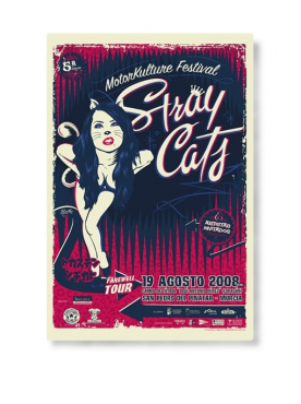 STRAY CATS - Farewel Tour Poster